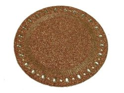 "Kianni Decor PM-09 Jewelled 14"" Diameter Round Placemat - Antique Copper"