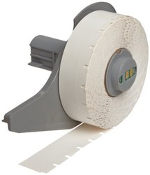 "Brady M71C-475-412 0.475"" Width x 50' Height White Color B-412 Polypropylene Tag For BMP71 Printers"