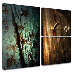 ArtWall Mark Ross Wood & Nail Flag 3 Pcs Gallery Wrapped Canvas Art