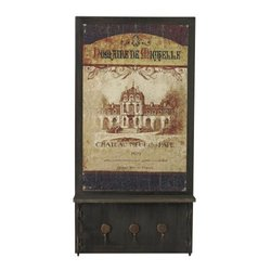 Sterling Industries Chateau Neff De Paper Wall Decor with Hooks (26-8678)