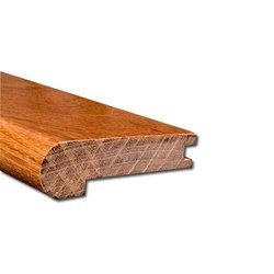"""Moldings Online Natural Semi Gloss Merbau Stair Nose - Size: 78"""" x 3.5"""""""