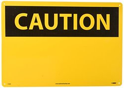 """National Marker """"Caution"""" Safety Sign - Black/Yellow"""