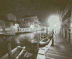 JP London uStrip Peel & Stick Tone Venice Vintage Rustic Night Wall Mural