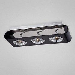 Eurofase 3 Light AR111 Curve Track Light - Black