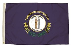 Independence Flag Nylon Kentucky Flag, 3 x 5'