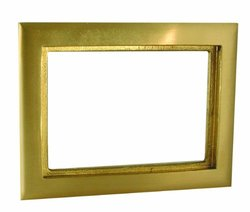 Hubbell-Raco 6293 2-Gang Rectangular Brass Carpet Flange