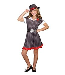 Girls Ally Capone Gangster Costume - Large