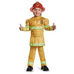 Firefighter Muscle Costume - Kids Beige