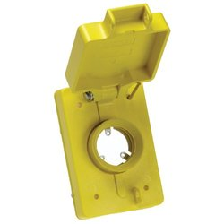 Woodhead 6903 Watertite Flip Lid Receptacle Replacement Cover, Single, Fits All 30A Locking 3-Hole Connector Inserts