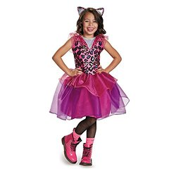 Girls Hot Pink Leopard Kitty Size Medium 7-8