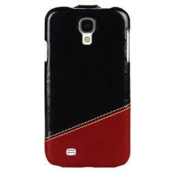 Melkco Leather Case for Galaxy S4 - Vintage Black/Vintage Red