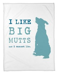 Bentin Pet Décor I Like Big Mutts Throw Blanket, 30 by 40-Inch