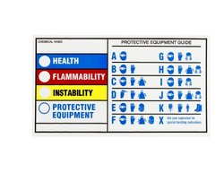 "Brady 60334 Polyester W/ Polyester Laminate Cover Hmig Self-Laminating Labels , Black,  Red,  Blue,  Yellow On White,  4"" Height x 7"" Width  (25 Labels per Package)"