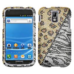 Samsung Hercules Hottie Diamante Case Cover for Galaxy S2 - Gold/Silver