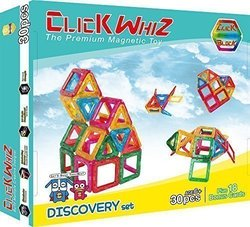 ClickBlock Kids 30-Piece Magnetic Building Discovery Set