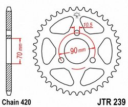 JT Sprockets JTR239.43 43T Steel Rear Sprocket