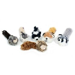 3 Pack Multipet Bouncy Burrow Buddies Babies Assorted Dog Toys - 8-Inch