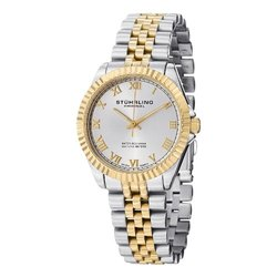 Womens Swiss Symphony Watch: GP13056-Gold Band/Silver Dial