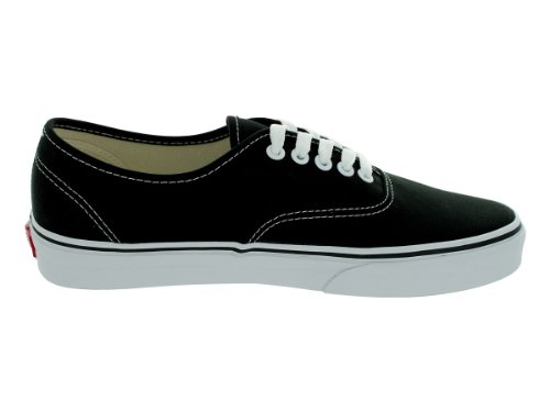 f1ac46dadd ... Vans Unisex Authentic Solid Canvas Skateboard Sneakers - Black - Size   11 ...