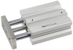 SMC Dual Acting 16mm-Bore 50mm-Stroke Double Rod Pneumatic Air Cylinder