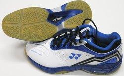 Yonex Men's PC SC4-MX Leather Shoes - Blue/Black/White - Size: 11.5
