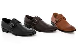 Franco Vanucci Men's Slip-On Dress Shoes - Brown - Size: 10
