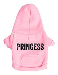 "POSH365 ""Princess"" Dog Hoodie, Small, Pink"