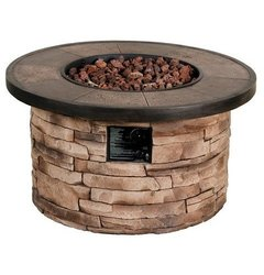 "Threshold Chisholm 32"" Round LP Fire Table"