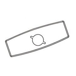Moen 104428 Commercial 4-Inch Deckplate for 8305-8308, Chrome