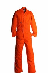 LAPCO CVFRD7OR-LAR TL Lightweight 100-Percent Cotton Flame Resistant Deluxe Coverall, Orange, Large, Tall