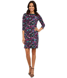 Nine West Women's Hatchi Long Sleeve Sheath Dress - Multi - Size: 6