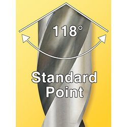 IVY Classic 01026 13/32-Inch M2 High Speed Steel Drill Bit, 118-Degree Point, Reduced Shank, 6-Pack
