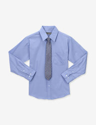Dockers Boys 2-Pc Dress Shirt & Tie Set - Blue - Size: 20