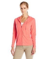 White Sierra Women's Bug Free Zip Hoodie - Watermelon - Size: Small