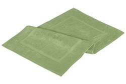 NEW 2 Luxury Combed Cotton Bath Mat 21 x 34 inches Sage Green
