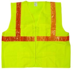 Jackson Safety High-Visibility Vest - ANSI Class 2, Large, Medium, Lime