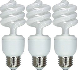 GE Lighting 92779 Energy Smart CFL 13-watt 825-Lumen T3 Spiral Light Bulb with Medium Base, 3-Pack, Case of 4