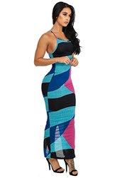 Womens Juniors Sexy Spaghetti Strap Open Back Maxi Dress 30194K - Size: L