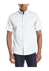 Dockers Men's Hanging Solid Color Woven Shirt - White - Size: Large