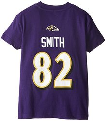 NFL Baltimore Short Sleeve Tee - Ravens Purple -Size: Youth XL (14/16),