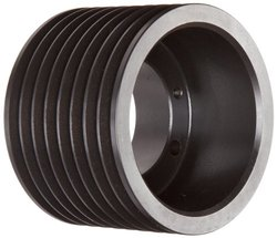 "Martin 5.55"" Pitch Dia. Hi-Cap QD Sheave 3V Belt Sectio SK Bushing"