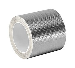 TapeCase 3-6-1345 Silver Tin/Copper/Acrylic Adhesive Embossed Foil Tape