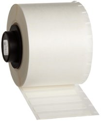 "Brady PTL-28-498 TLS 2200 And TLS PC Link 1.5"" Height, 0.25"" Width, B-498 Repositionable Vinyl Cloth, White Color Label (750 Per Roll)"