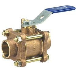 NIBCO S-595-Y-66 Cast Bronze Ball Valve - Stainless Steel Trim Three-Piece