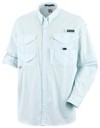 Columbia Men's Short Sleeve Shirt - Gulf Stream/Gingham-Size: X-Large/Tall