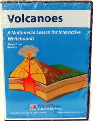 Single-User CD-ROM: Multimedia Lesson for Interactive Whiteboards, Volcanoes, (78680)