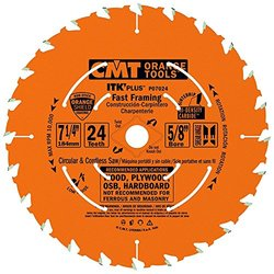 CMT P07024-X10 ITK Plus Fast Framing Saw Blade Masterpack, 7-1/4 x 24 Teeth, 10  ATB+Shear with 5/8-Inch<> bore - 10-Pack