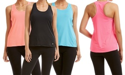 Bally Fitness Women's Active Tank Top - Pack of 2 - Black/Coral - Size: L