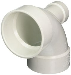 """Genova Products 73042 90 Lowheel Inlet Elbow Pipe Fitting, 4"""" x 2"""""""