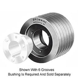 Browning 4F3V30X1 Finished Bore 358 Gripbelt Sheave, Cast Iron 4 Groove, 3V Belt